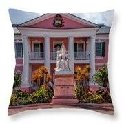 Nassau Senate Building Throw Pillow