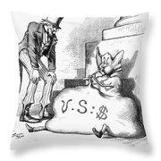 Nast: Inflation, 1873 Throw Pillow