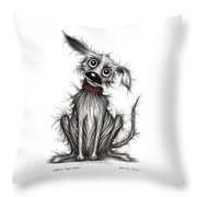 Nasty The Dog Throw Pillow