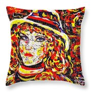 Nat With The Hat Throw Pillow