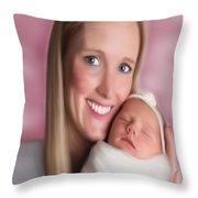 Natalie And Ellie Throw Pillow