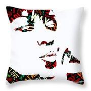 Natalie Cole Unforgettable Song Lyrics Throw Pillow