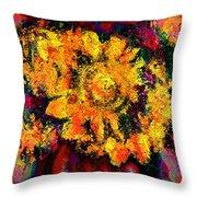Natalie Holland Sunflowers Throw Pillow