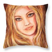 Natalie Self Portrait Throw Pillow
