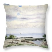 Natalie's Beach Throw Pillow