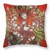 Nataraja Mural Throw Pillow