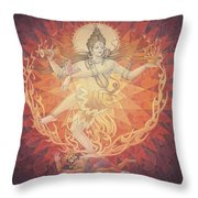 Nataraja Shiva Throw Pillow