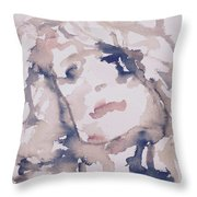 Natashia IIi Throw Pillow by Khalid Alzayani