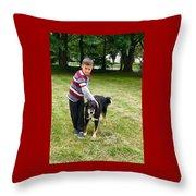 Nathan Loves Bailey Throw Pillow