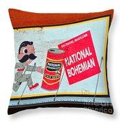 National Bohemian Throw Pillow