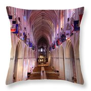 National Cathedral Throw Pillow
