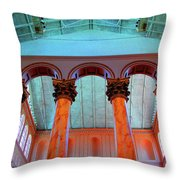 National Column Orange Throw Pillow