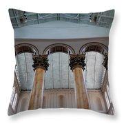 National Columns Throw Pillow