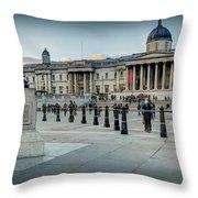 National Gallery Trafalgar Square Throw Pillow
