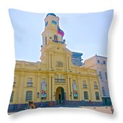 National History Museum On Plaza De Armas In Santiago-chile Throw Pillow