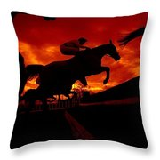 National Hunt, Ireland Throw Pillow
