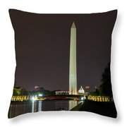 National Mall At Night Throw Pillow