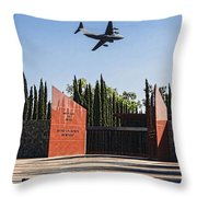 National Medal Of Honor Memorial Fly Over Throw Pillow