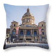 National Palace Barcelona Throw Pillow