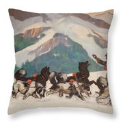 National Park Service - North Country Throw Pillow