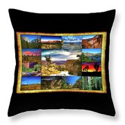 National Parks Of The West Throw Pillow