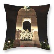 National War Memorial At Night Throw Pillow