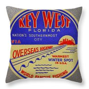 Nations Southernmost City Throw Pillow