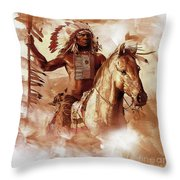 Native American 093201 Throw Pillow