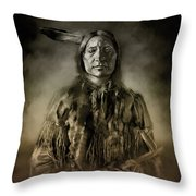 Native American Chief-scabby Bull 2 Throw Pillow