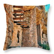 Native American Cliff Dwellings Throw Pillow