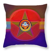 Native American Decal Throw Pillow