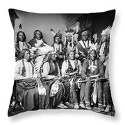 Native American Delegation, 1877 Throw Pillow