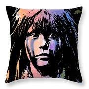Native American Girl Throw Pillow
