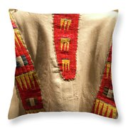 Native American Great Plains Indian Clothing Artwork 09 Throw Pillow