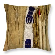 Native American Great Plains Indian Clothing Artwork Vertical 06 Throw Pillow