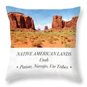 Native American Land, Monument Valley, Navajo Tribal Park Throw Pillow