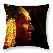 Potawatomi Chief Throw Pillow