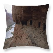 Native American Ruins Of Nankoweap Throw Pillow