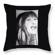 Native American Singer Throw Pillow