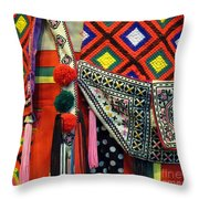 Native Costume Detail Throw Pillow