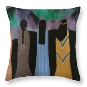 Native Northern Lights Moments Throw Pillow