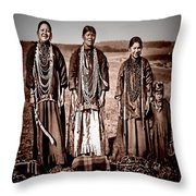 Native Pride Throw Pillow by Mark Allen