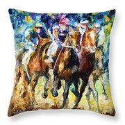 Native Raiser - Palette Knife Oil Painting On Canvas By Leonid Afremov Throw Pillow