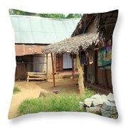 Native Street Scene Throw Pillow