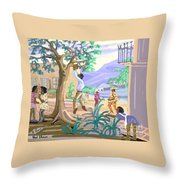 Natives Of St. Thomas Throw Pillow
