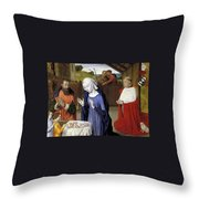 Nativity - Master Of Moulins Throw Pillow