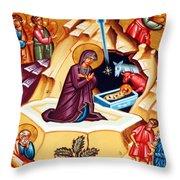 Nativity At Shepherd Field Throw Pillow