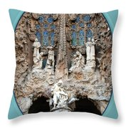 Nativity Barcelona Throw Pillow