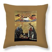 Nativity By Domenico Ghirlandaio Throw Pillow