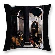 Nativity By Hans Baldung Grien Throw Pillow